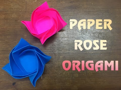 Diy Paper Rose Box Container Origami Youtube