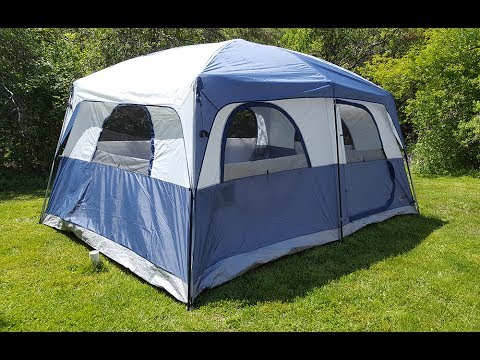 f2f4ed11679 Bass Pro Shops Eclipse 10 Person Cabin Tent Review and Walkaround ...
