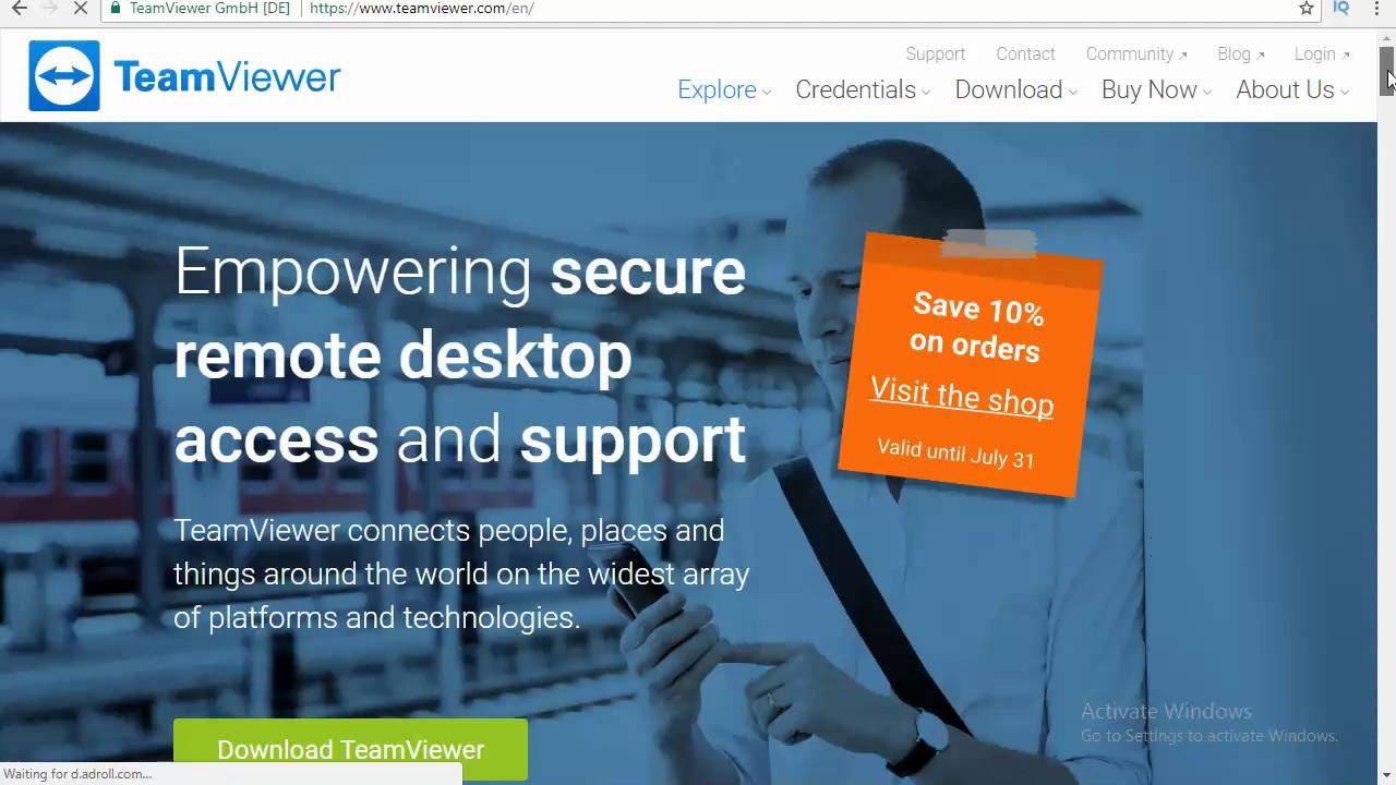 teamviewer version 10 free download for windows 7