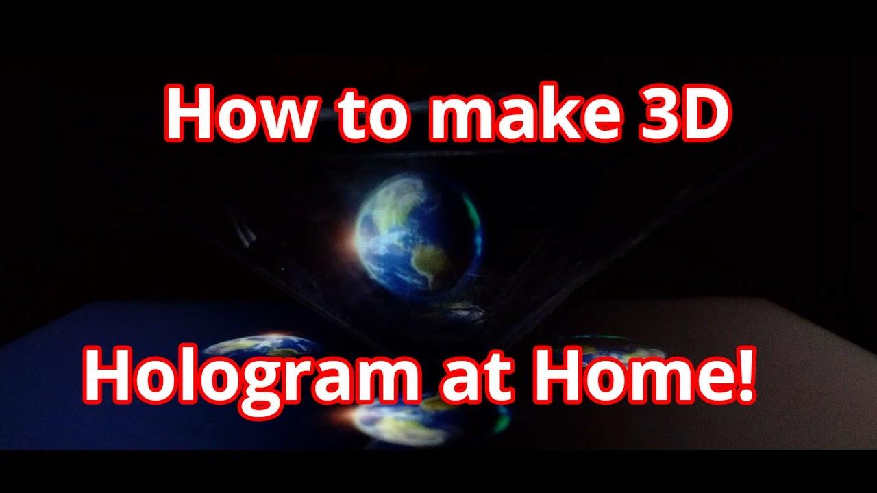 How to Make 3D Hologram Projector at Home - 3d hologram maker