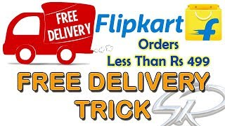 Flipkart Free Delivery Trick (2018) in Hindi