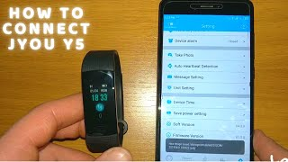 how to connect Jyou Y5 with JYou app in Android phone Smart Band Wristband Smart Bracelet