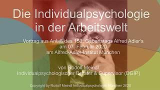Individualpsychologie in der Arbeitswelt - 2020