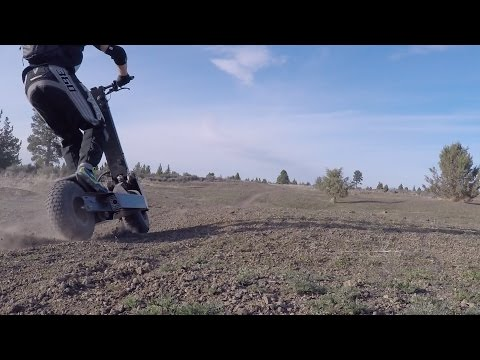 Works Electric Rover B14 Electric Scooter - Bend Oregon Dirt Session