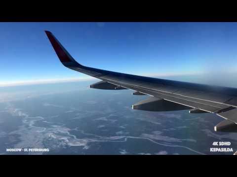 [4K] Aeroflot A321. Москва - Питер