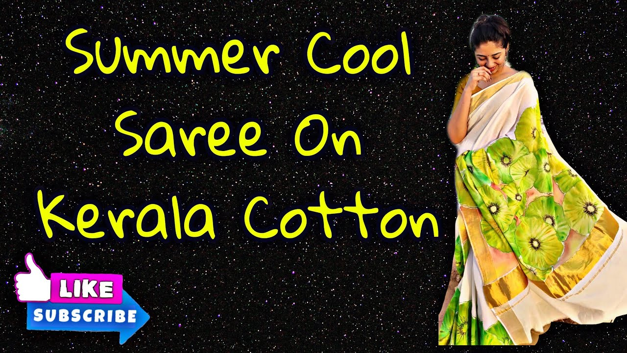 Easy fabric painting tutorial on Kerala cotton/summer cool design/soft