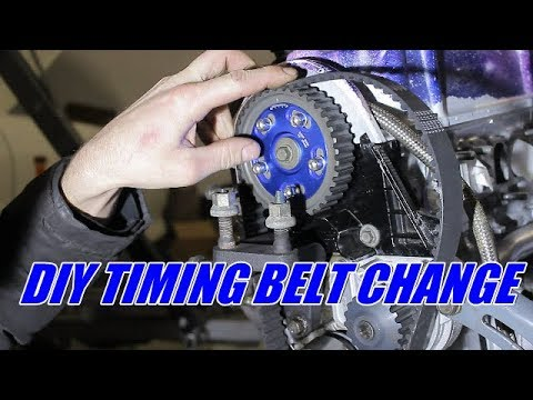 How to replace your timing belt, water pump and tensioner (Honda civic)