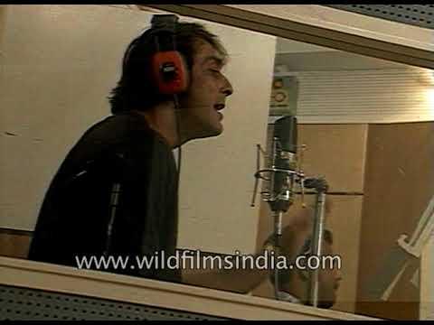 Sanjay Dutt records Aye Shivani in recording studio