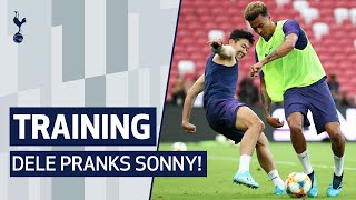 DELE PRANKS SONNY | OPEN TRAINING SESSION IN FRONT OF THE FANS IN SINGAPORE