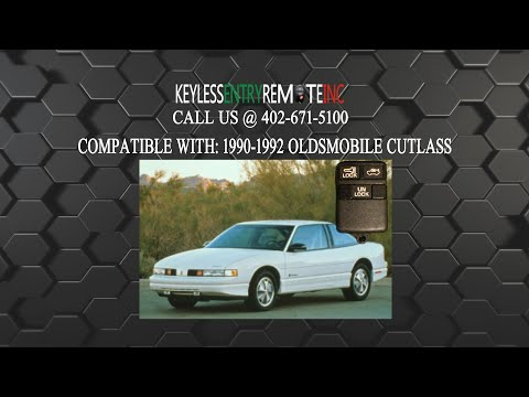 How To Replace Oldsmobile Cutlass Key Fob Battery 1990 1992