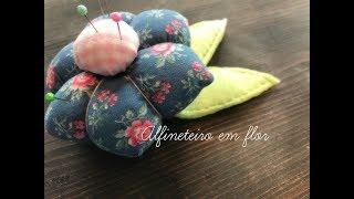 Alfineteiro de flor – (excelente para iniciantes na costura)