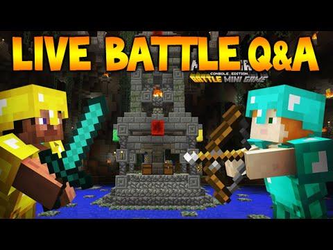 [LIVE] Minecraft Console NEW BATTLE MODE - DISCUSSION / Q&A (Mini Games)