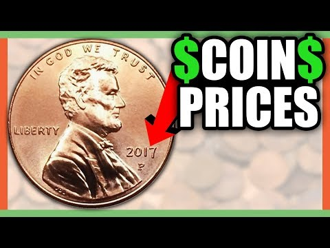 HOW MUCH IS A 2017 PENNY WORTH? RARE PENNIES WORTH MONEY!!
