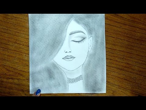 simple-pencil-drawing---cute-drawings-of-a-girls-picture-easy