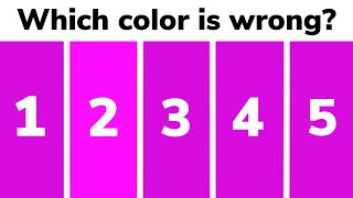 Test Your Eyes - COLOR OPTICAL ILLUSIONS