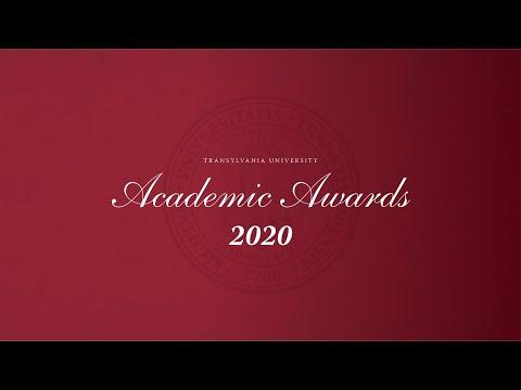 2020 Transylvania University Academic Awards