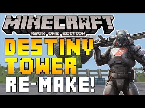 Minecraft Xbox - Destiny Tower Re-Make Map Showcase!