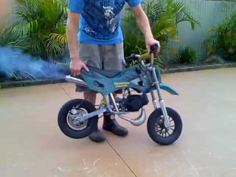50cc mini moto start and run youtube. Black Bedroom Furniture Sets. Home Design Ideas