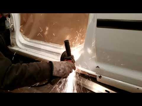 видео: Volkswagen Caddy.Threshold replacement. Замена порога. Такого вы еще не видели!