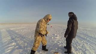 Рыбалка на жерлицы на озере Султан Коргалжынский заповедник 16 12 2019 Астана ЩУКИ