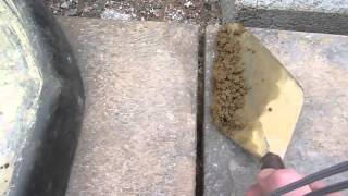 How to do pointing or fill the gaps between paving slabs or patio DIY