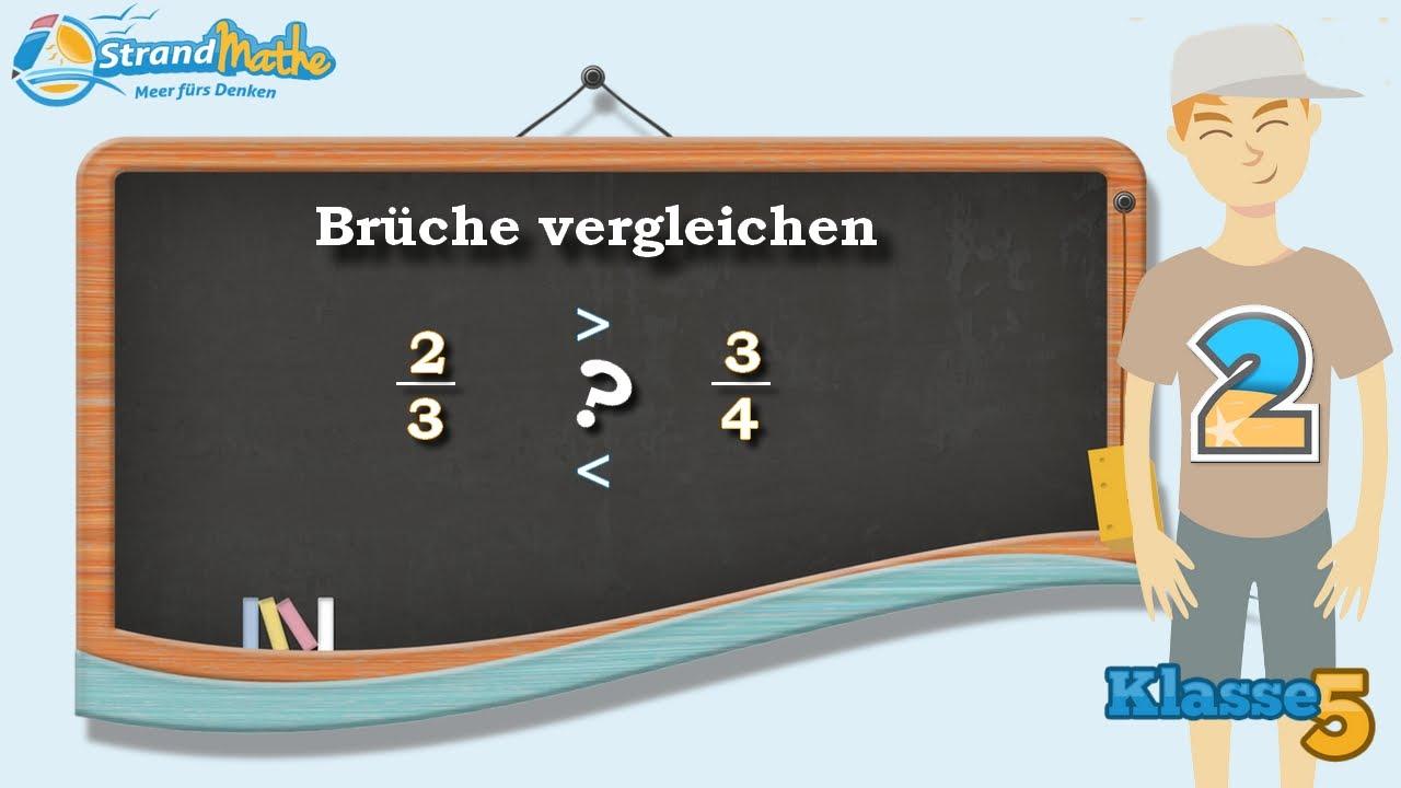 Brüche vergleichen || Klasse 5 ☆ Übung 2 - YouTube