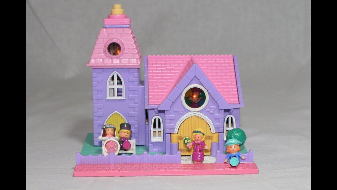 Polly pocket wedding chapel review 1993 original bluebird for Classic house 1993