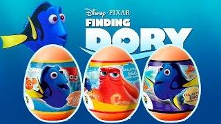 Finding Dory Kinder Surprise Eggs Disney Pixar Buscando a Procurando Dory Huevos Sorpresa