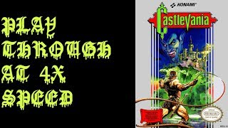 Castlevania Retold Romhack Playthrough at 4X Speed - BAC Gaming Fourplays