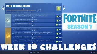 ALL Week 10 Challenges Guide - Fortnite Battle Royale Season 7