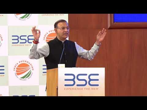 Shri Jayant Sinha, Hon MoS, Ministry of Civil Aviation, GoI speaking at India Economic Summit 2018