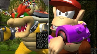 Mario Strikers Charged - Bowser vs Diddy Kong - Wii Gameplay (4K60fps)
