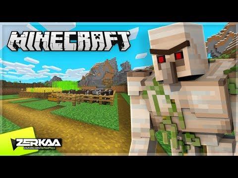 I Built An Iron Golem To Protect My Base! (Minecraft #14)