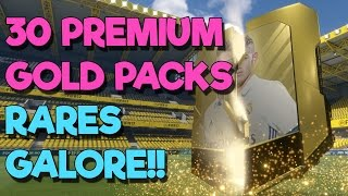 30 PREMIUM GOLD PACKS - RARES GALORE!!! | FIFA 17 Ultimate Team Pack Openings