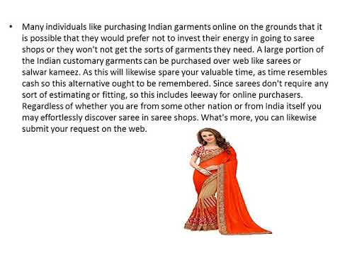 How To Find Online Saree Shops For Your Necessity