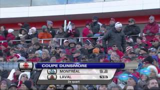 Football Universitaire Canadien Coupe Dunsmore 2013 Carabins vs. Rouge et Or