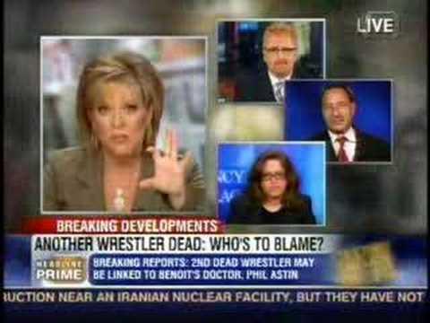 Nancy Grace with Bryan Alvarez, Konnan, Marc Mero,...