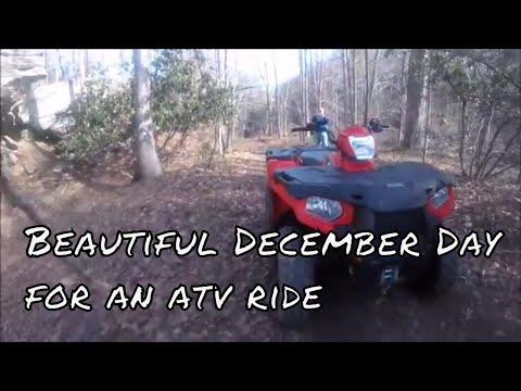 Beautiful day in December for an atv ride