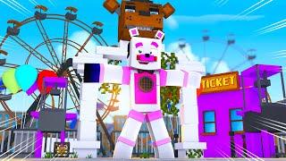 Discovering FNAF World Theme Park! Minecraft FNAF Roleplay