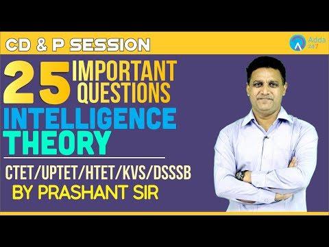 CTET, UPTET, KVS, DSSSB | 25 Important Questions of Intelligence theory | CD&P | Prashant Sir