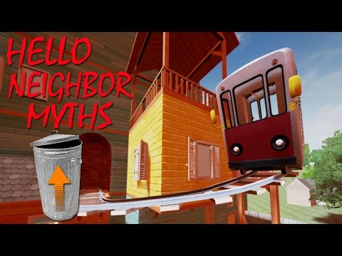 A TRASHCAN CAN REACH HIGHER PLACES! & INVINCIBLE CHAIR GLITCH?! | Hello Neighbor Myths