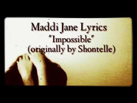 Maddi Jane~impossible (Lyric)