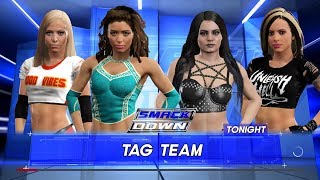 WWE 2K17 - Eve Torres and Liv Morgan VS Paige and Velvet Sky
