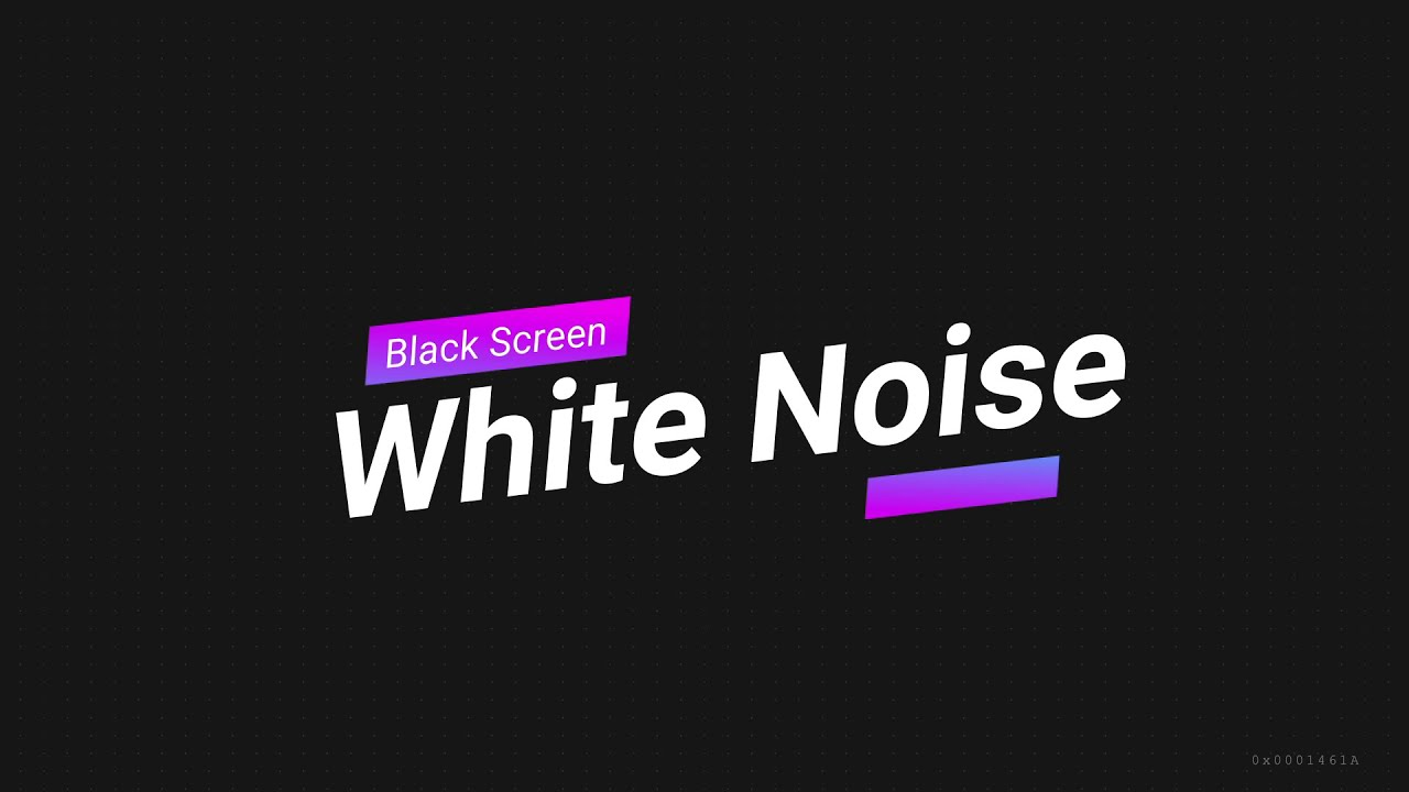 The Best White Noise Black Screen 10 Hours, Sleep, Baby ...
