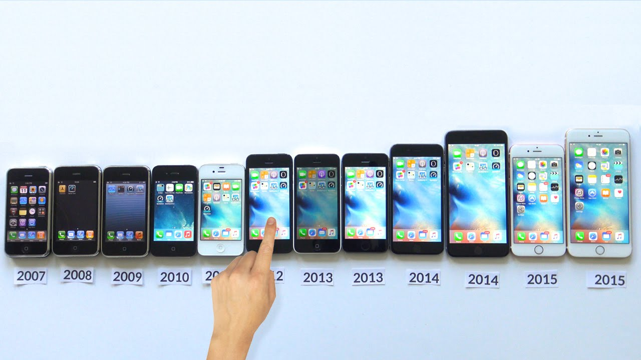 ALL IPhones Compared IPhone 6S Vs 6 Plus 5s 5c 5 4s 4 3Gs