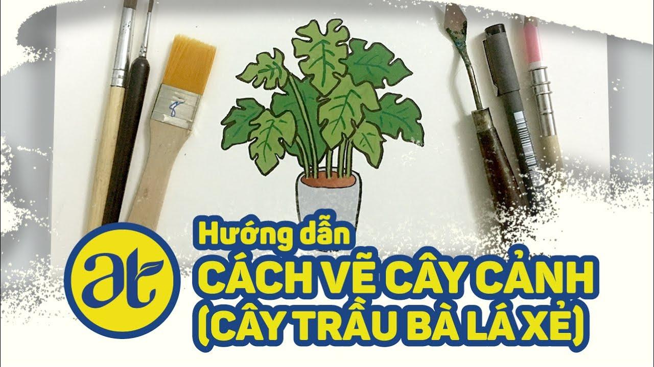 Series: Học cách vẽ cây cơ bản #2 – How to draw plant (tree) easy #2
