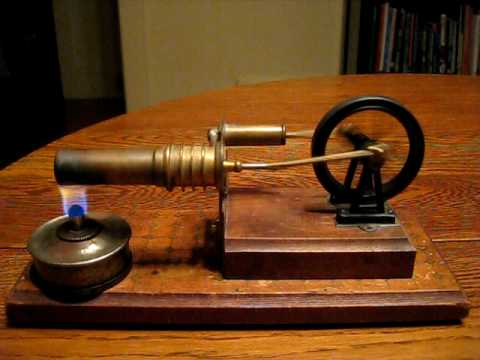 Test of old Stirling engine from Germany