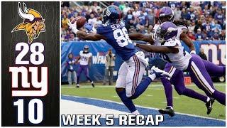YOU SHOULD BE PROUD OF THIS TEAM | New York Giants vs Minnesota Vikings 2019 Week 5 Recap