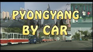 Pyongyang by car on a Sunday of May