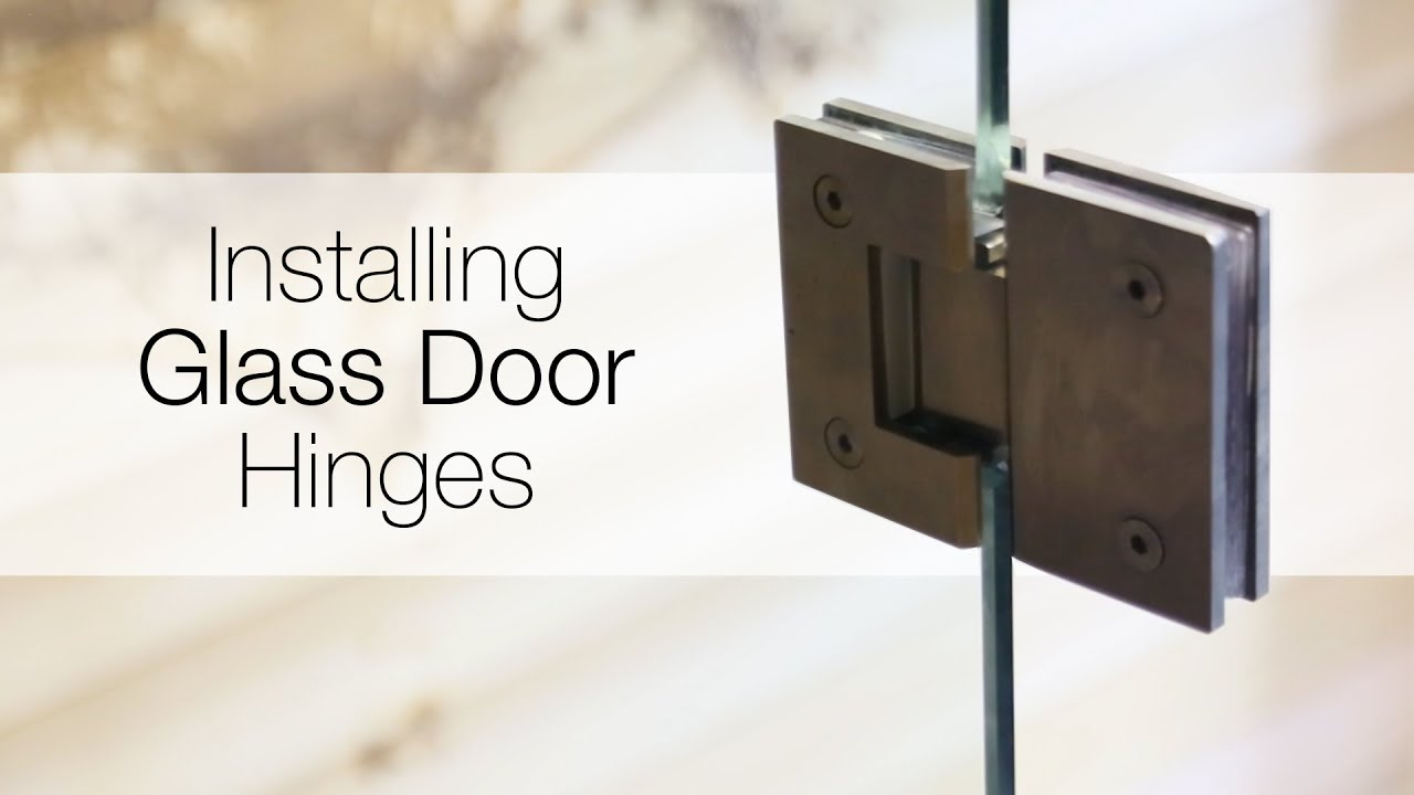 How To Install Glass Door Hinges Youtube